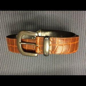 Ann Taylor Women's Embossed Leather Belt